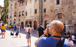 Photographing man Royalty Free Stock Image