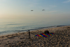 Photographing miami beach at sunrise Stock Photography