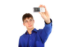 Photographing with mobile phone Royalty Free Stock Image