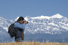 Photographing the Mountain Stock Images