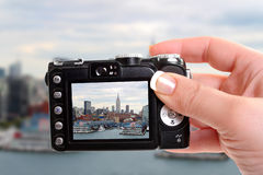Photographing the New York  building skyline Stock Image