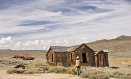 Photographing the Old West Stock Images