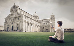 Photographing the Pisa's Duomo Stock Photos