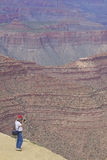 Photographing the Rugged Grand Canyon Royalty Free Stock Photos