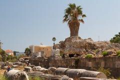 Photographing ruins of ancient agora Stock Photos