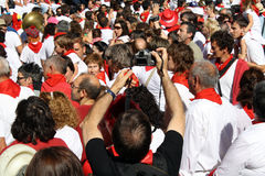 Photographing the sanfermines. Stock Photography