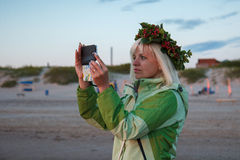 Photographing at the sea Royalty Free Stock Photography
