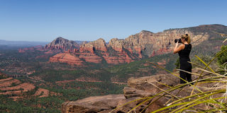 Photographing Sedona Royalty Free Stock Images