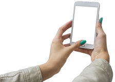 Photographing selfie with mobile phone Royalty Free Stock Photo