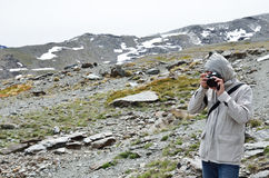 Photographing in the Sierra Nevada Stock Photo