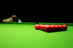 Photographing snooker balls Royalty Free Stock Photos