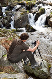 Photographing in the spring Pyrenees Royalty Free Stock Photography