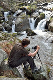Photographing in the spring Pyrenees Stock Photos