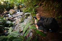 Photographing a Stream Stock Image