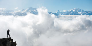 Photographing Swiss Alps Stock Photo