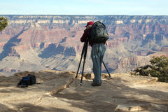 Photographing theGrand Canyon Stock Image
