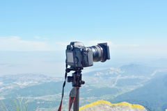 Photographing and video nature and landscape outdoor. Stock Images