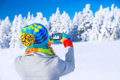 Photographing winter nature Stock Photos