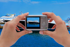 Photographing yachts Royalty Free Stock Photo
