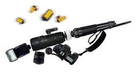 Photographische Linsen, welche die Form von einem Gewehr machen Lizenzfreie Stockbilder