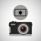Photographischer Lichteffekt der Retro- Kamera Lizenzfreie Stockfotos
