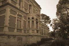 THE OLD MANOR 2. Photographs of a beautiful abandoned villa stock images