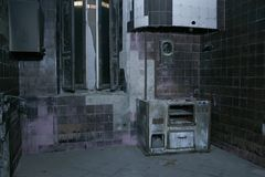 THE OLD MANOR`S KITCHEN. Photographs of a beautiful abandoned villa royalty free stock photos