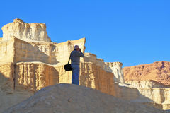The photographs in coast of the Dead Sea. Stock Photo