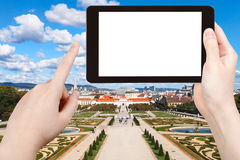 Photographs garden of Belvedere Palace in Vienna Royalty Free Stock Images