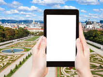 Photographs lawns of Belvedere Palace in Vienna Royalty Free Stock Photos
