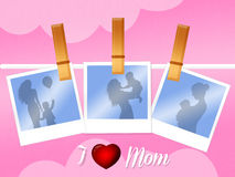 Photographs with mom and son Royalty Free Stock Photography