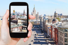 Photographs picture of Moscow street Royalty Free Stock Photography