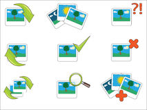 Photographs pictures - Vector icon Royalty Free Stock Images