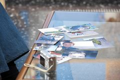 Photographs on the table Stock Photography