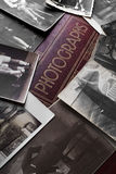 Photography. A lot of  vintage photographs on an old photo album Royalty Free Stock Photo