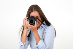 Photography addict Stock Image