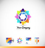 Photography aperture shutter logo Stock Photos