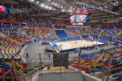 Photography area of Sport arena Megasport, Moscow, Russia Stock Photo