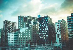 Photography of Assorted-color High Rise Building Royalty Free Stock Image
