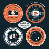 Photography badges and labels. Vector hipster collection of photography logo Stock Image