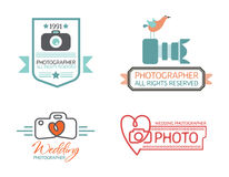 Photography Badges and Labels in Vintage Style Stock Images
