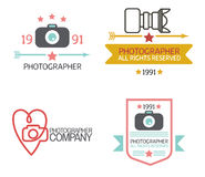 Photography Badges and Labels in Vintage Style Royalty Free Stock Photography