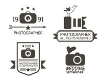 Photography Badges and Labels in Vintage Style Stock Image