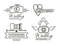 Photography Badges and Labels in Vintage Style stock illustration