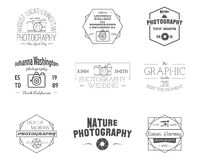 Photography Badges and Labels in Vintage Style Stock Photos
