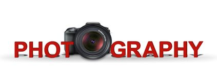 Photography banner royalty free illustration
