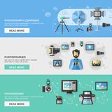 Photography Banner Set Royalty Free Stock Image