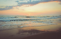 Photography of Beach During Dusk Royalty Free Stock Photo