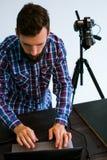 Photography blog art photographer photo studio. Work concept stock photography