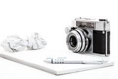 Photography blog concept Stock Images